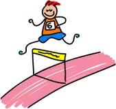 Bambino atletico illustrazione di stock