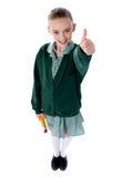 Bambino attraente che mostra i pollici in su Fotografia Stock