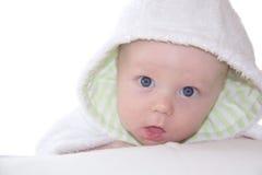 Bambino in attrezzatura bianca Fotografia Stock