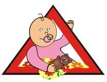 Bambino in automobile - ragazza Royalty Illustrazione gratis