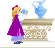 Bambino bevente royalty illustrazione gratis