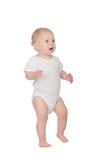 Bambino biondo adorabile in biancheria intima Fotografia Stock