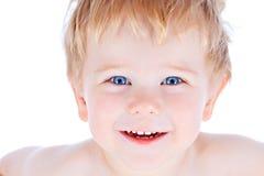 Bambino biondo e ragazzo degli occhi azzurri Immagini Stock Libere da Diritti