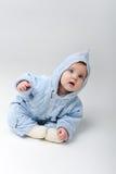 Bambino blu in uno studio Immagine Stock Libera da Diritti
