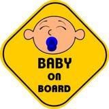 Bambino a bordo Immagine Stock