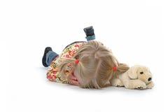Bambino caduto Fotografia Stock