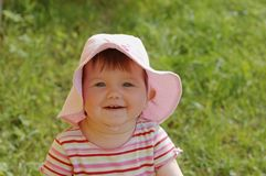 Bambino in cappello Fotografia Stock