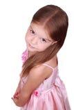 Bambino caucasico timido Fotografia Stock