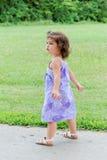 Bambino che cammina nella sosta Immagine Stock Libera da Diritti