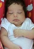 Bambino che dorme in un'amaca fotografie stock