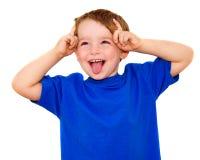 Bambino che fa espressione divertente Fotografia Stock Libera da Diritti