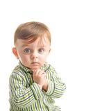 Bambino che fa un desiderio Immagini Stock