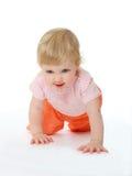 Bambino che funziona su tutti i fours Fotografie Stock Libere da Diritti