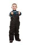 Bambino che gesturing pollice su Immagini Stock Libere da Diritti