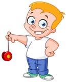 Bambino del yo-yo Fotografia Stock Libera da Diritti