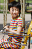 Bambino che gioca gioco Fotografia Stock