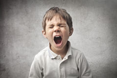 Bambino che grida Fotografia Stock Libera da Diritti