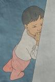 Bambino che grida, ferita Fotografia Stock