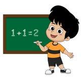 Bambino che impara per la matematica nella classe Fotografia Stock Libera da Diritti