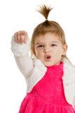 Bambino che indica il closup della mano del dito in avanti Fotografie Stock