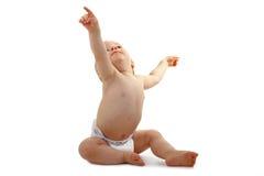 Bambino che indica in su Fotografie Stock