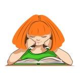 Bambino che legge un libro Illustrazione di Stock