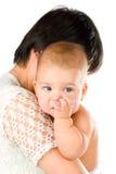 Bambino che mastica barretta fotografia stock libera da diritti
