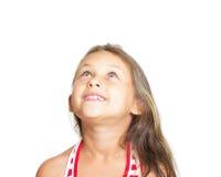 Bambino che osserva in su Fotografia Stock