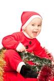 Bambino che porta il vestito della Santa Fotografia Stock