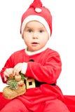 Bambino che porta il vestito della Santa Immagine Stock