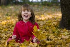 Bambino che ride nella sosta Immagine Stock