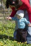 Bambino che scopre natura Fotografia Stock