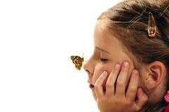 Bambino che sogna del futuro Fotografie Stock