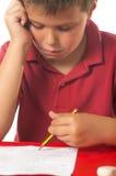 Bambino che studia 4 Fotografie Stock Libere da Diritti