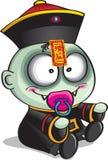 Bambino cinese del vampiro royalty illustrazione gratis