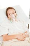 Bambino con asma Fotografia Stock
