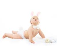 Bambino con Bunny Ears Immagini Stock Libere da Diritti