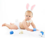 Bambino con Bunny Ears Fotografia Stock