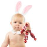 Bambino con Bunny Ears Immagine Stock