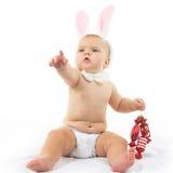 Bambino con Bunny Ears Fotografie Stock Libere da Diritti