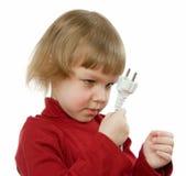Bambino con collegare Immagini Stock Libere da Diritti
