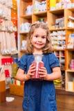 Bambino con colore o i pigmenti della pittura Fotografia Stock