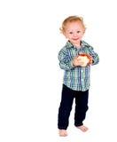Bambino con frutta Immagine Stock Libera da Diritti