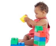 Bambino con i blocchi Fotografia Stock Libera da Diritti