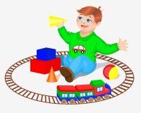 Bambino con i giocattoli Fotografia Stock