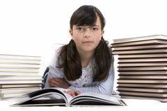 Bambino con i libri Fotografie Stock