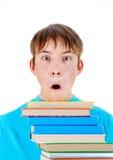 Bambino con i libri Immagine Stock