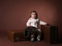 Bambino con i sacchetti Fotografia Stock Libera da Diritti