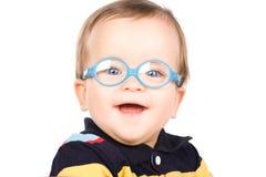 Bambino con i vetri fotografia stock libera da diritti