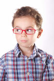 Bambino con i vetri Fotografie Stock Libere da Diritti